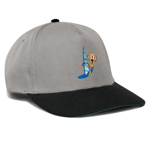 Lustiges Erdmännchen - Surfer - Windsurfer - Fun - Snapback Cap