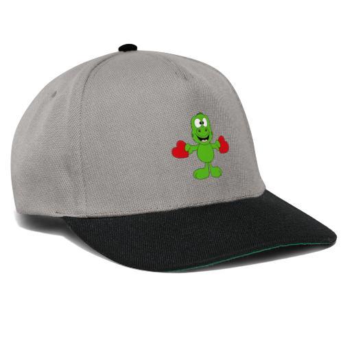Lustiger Gecko - Echse - Herzen - Liebe - Love - Snapback Cap