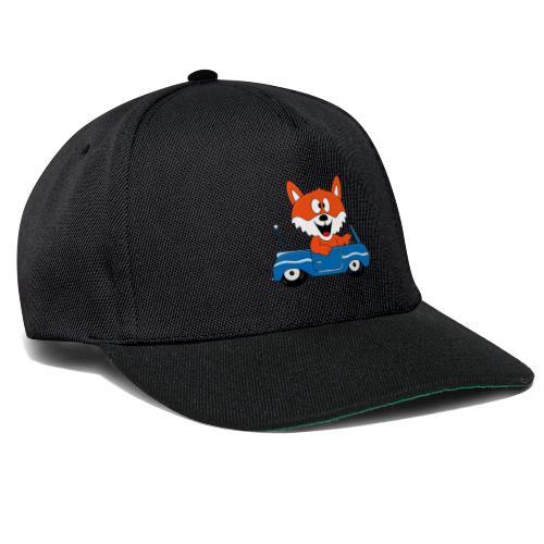 Fuchs - Auto - Cabrio - Tier - Führerschein - Fun - Snapback Cap