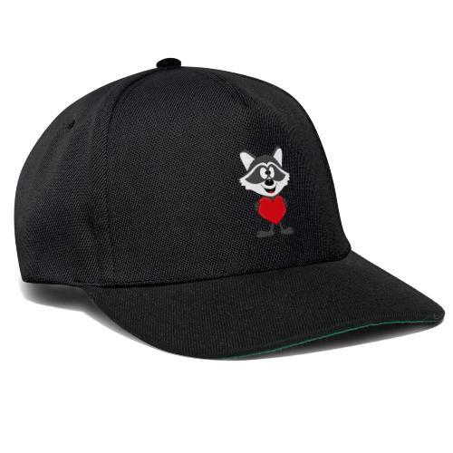 Waschbär - Herz - Liebe - Love - Kind - Tier - Snapback Cap