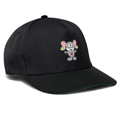 Maus - Blumen - Garten - Gärtner - Liebe - Love - Snapback Cap