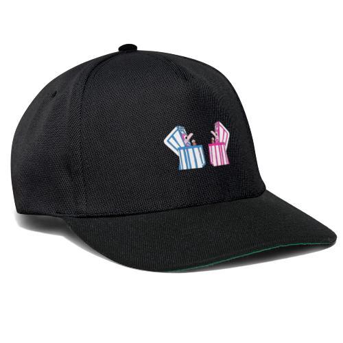 Flamingos - Strandkorb - Eis - Sommer - Urlaub - Snapback Cap