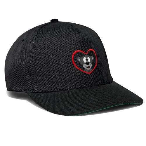 Panther - Herz - Liebe - Love - Tier - Kind - Snapback Cap