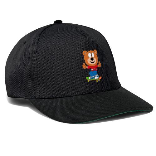 Teddy - Bär - Skateboard - Sport - Kind - Baby - Snapback Cap