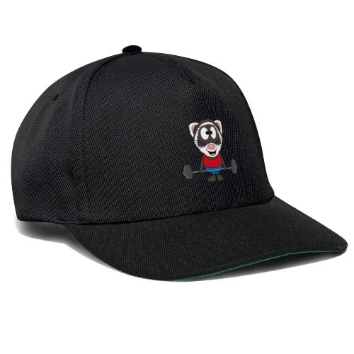 Frettchen - Fitness - Sport - Tier - Kind - Baby - Snapback Cap