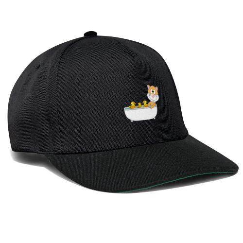 Hamster - Badewanne - Kind - Baby - Tier - Fun - Snapback Cap