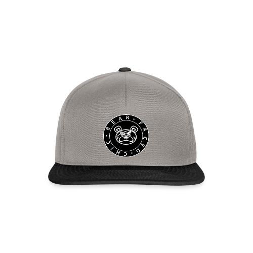 Bear Faced Chic Black and White Logo Varient - Snapback Cap