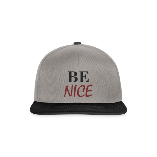 BE NICE - Gorra Snapback