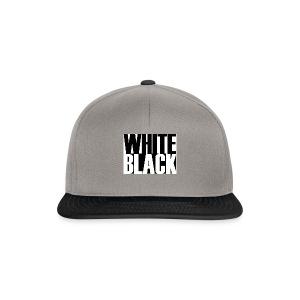 White, Black T-shirt - Snapback cap