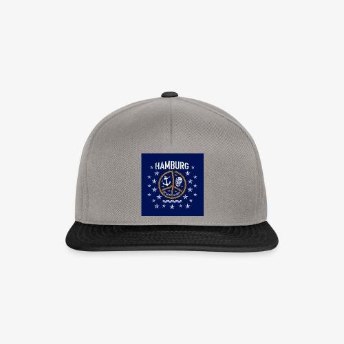 07 Hamburg Totenkopf Koordinaten Peace Anker Maske - Snapback Cap