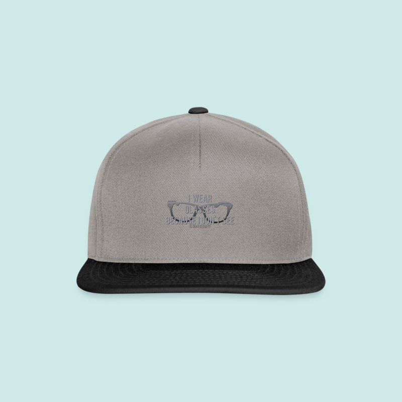 Wearing Glasses - Black - Casquette snapback