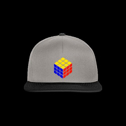blue yellow red rubik's cube print - Snapback cap