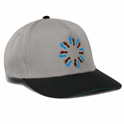 Barfuß-Kreis blau-braun - Snapback Cap