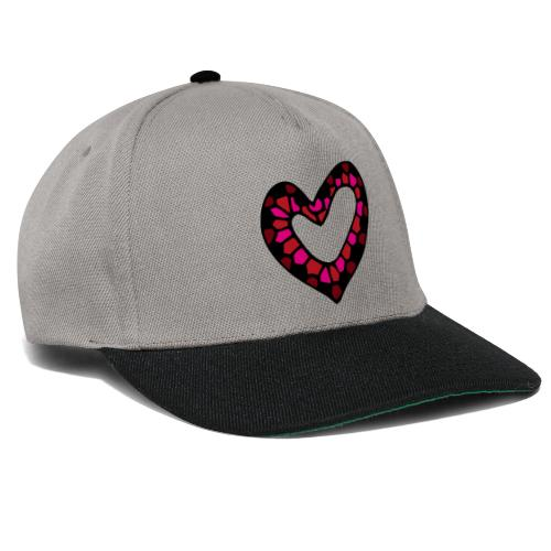 Herz Mosaik Buntglas - Snapback Cap