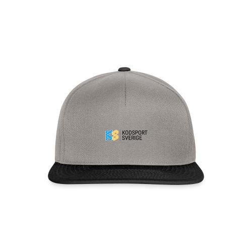 Kodsport logotyp - svart text - Snapbackkeps