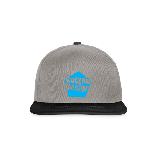 DelanoDesign - Logo Blauw - Snapback cap