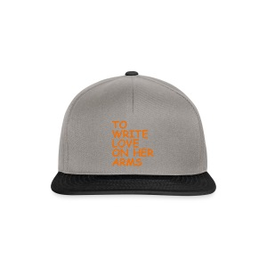 to write love on her arms orange - Snapback Cap
