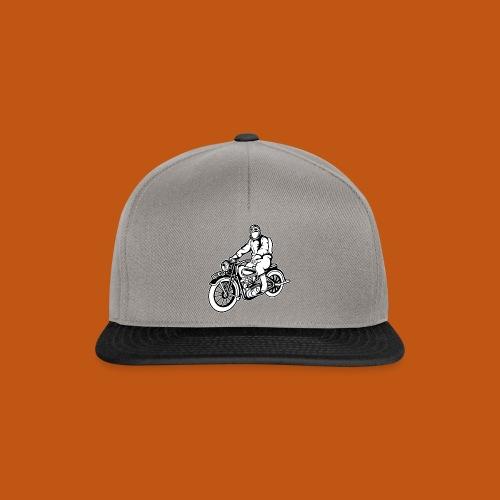 Chopper / Motorrad 04_schwarz weiß - Snapback Cap