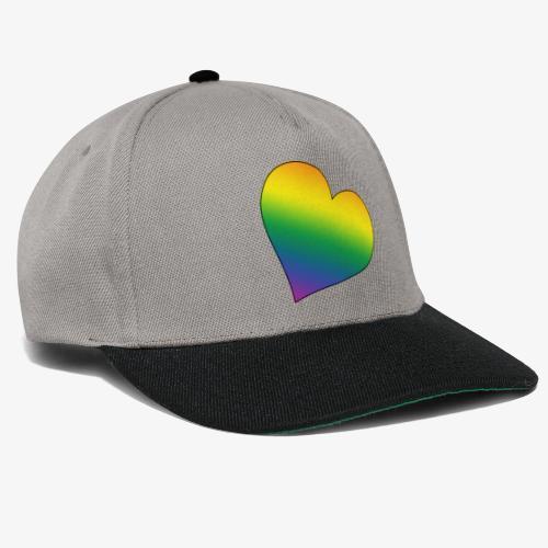 Rainbow heart - Snapback Cap