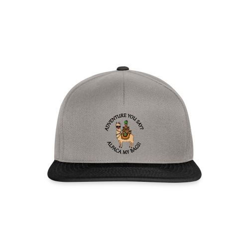 adventure you say? alpaca my bags! - Snapback Cap