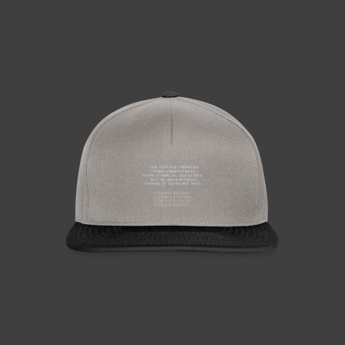 The Financial - Snapback Cap