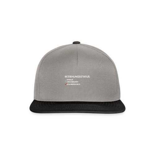 Beziehungsstatus - Krankenhaus - Snapback Cap