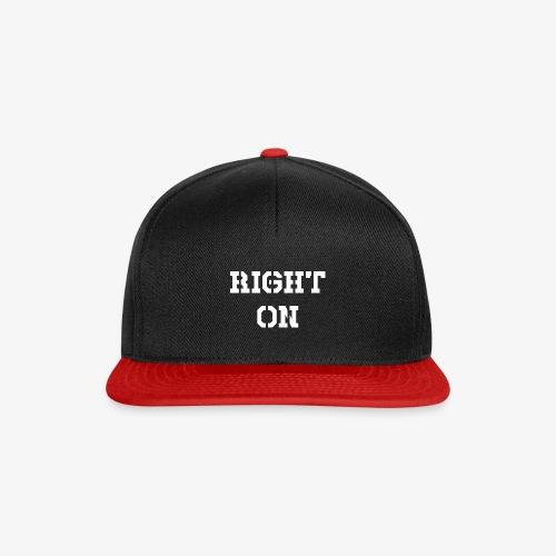 Right On - white - Snapback Cap