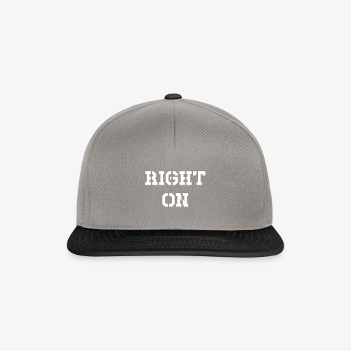 Right On - white - Snapback Cap