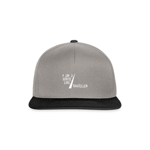 i am a white line traveller - Snapback cap