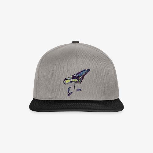 Rainbow wolf skull - Snapback Cap