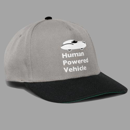 Quattrovelo Human Powered Vehicle white - Snapback Cap