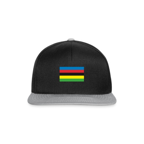 Cycling_World_Champion_Rainbow_Stripes-png - Snapback cap