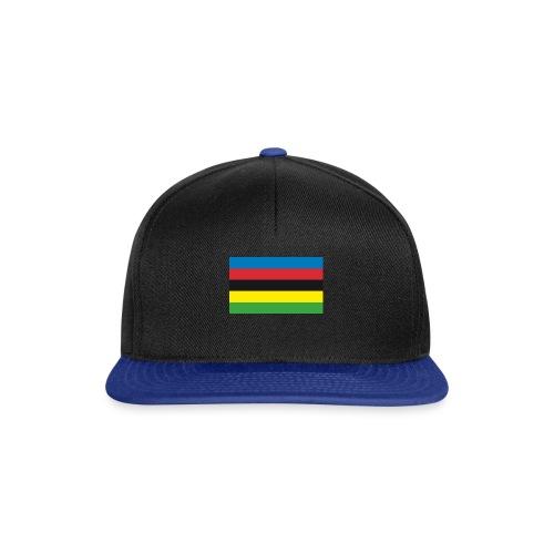 Cycling_World_Champion_Rainbow_Stripes-png - Snapback cap