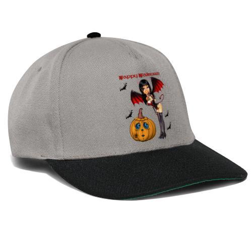 Happy Halloween Kürbis mit Fledermausgirl - Snapback Cap