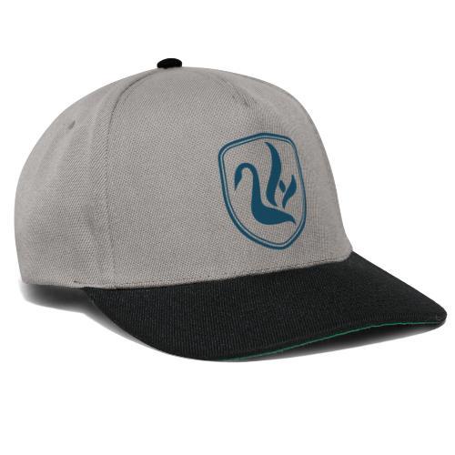 Cap grau, türkises Logo - Snapback Cap