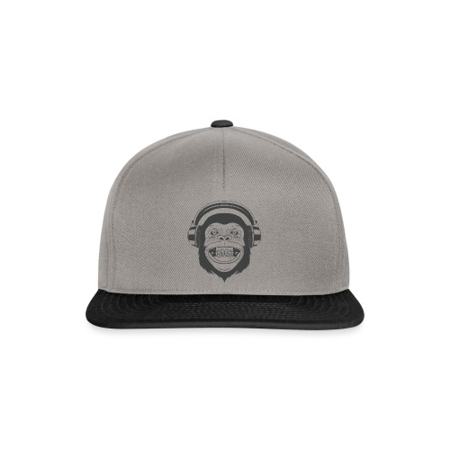 Monkey Black - Snapback Cap
