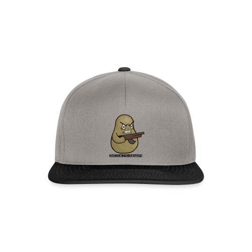 Potato Twitch Black Font - Snapback Cap