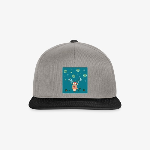 little deer blue background - Snapback Cap
