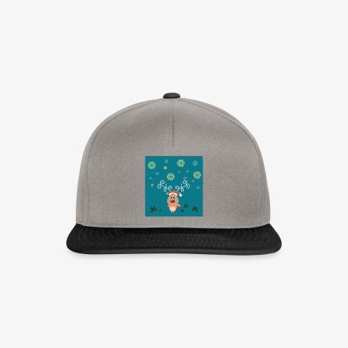 petit cerf fond bleu - Casquette snapback