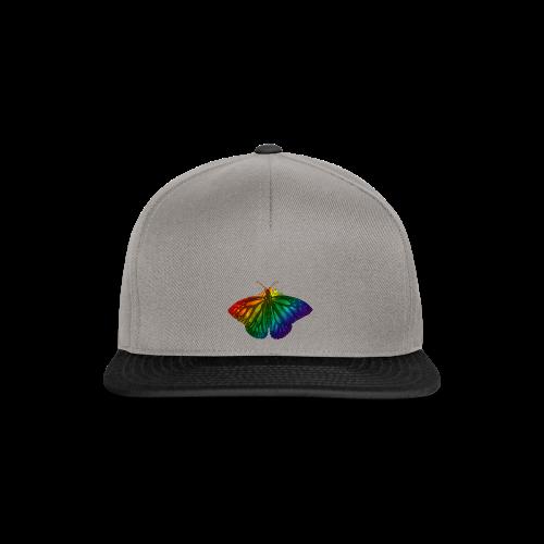 Regenboog vlinder - Freedom, Love en Happiness - Snapback cap