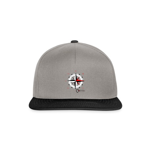compass_logo_red - Snapback Cap
