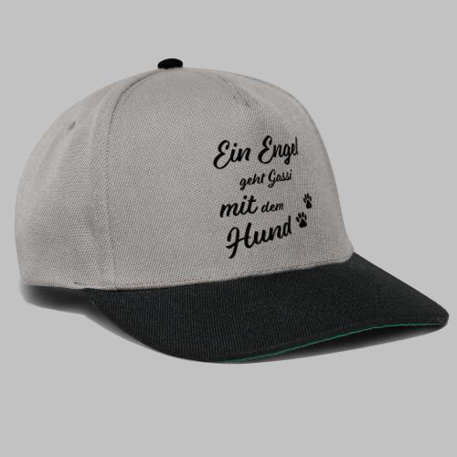 EIN ENGEL GEHT GASSI MIT DEM HUND - V2 - Black - Snapback Cap