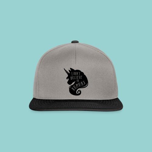 Believe in Humans - Snapback Cap