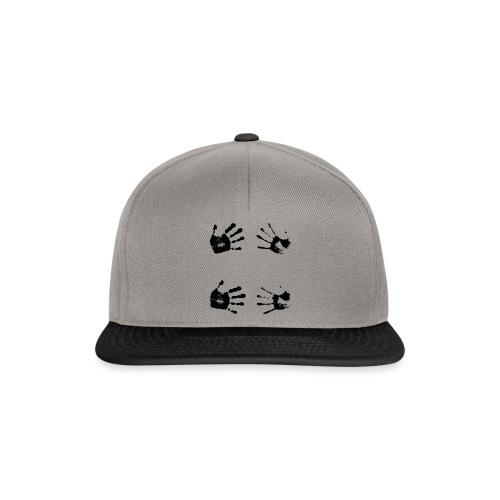Schwarze Handabdrücke. Geschenk - Snapback Cap