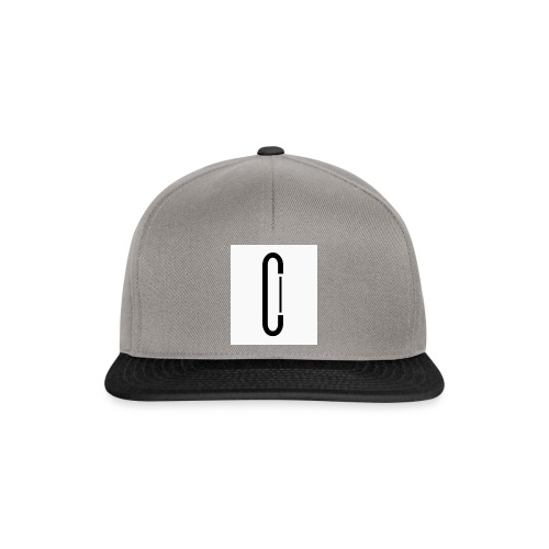 Cw0 Official Logo Slipper Black White - Snapback Cap