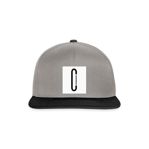Cw0 Official Logo Slipper Black White - Snapback Cap