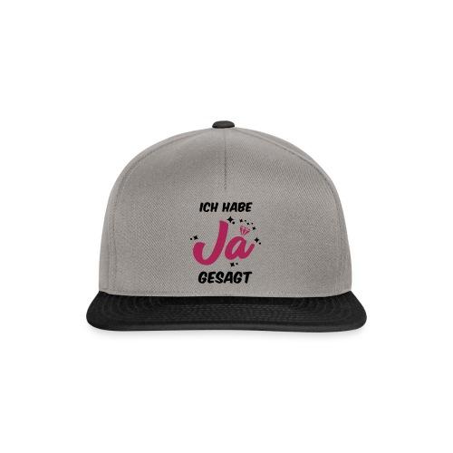 Ich habe JA gesagt - JGA T-Shirt - JGA Shirt - Snapback Cap