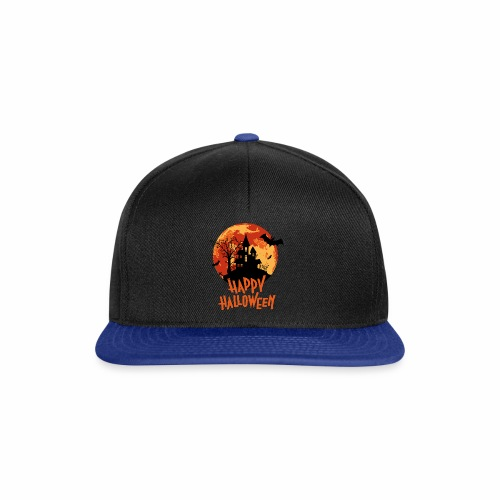 Bloodmoon Haunted House Halloween Design - Snapback Cap
