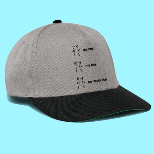 neck back anxiety attack - Snapback Cap