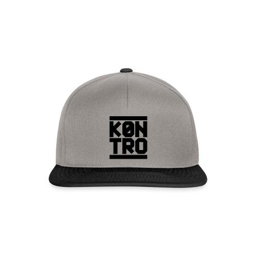 KONTRO Black Logo - Snapback Cap